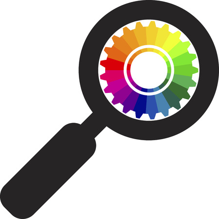 colour wheel: Illustration art of a zoom colour wheel with isolated background