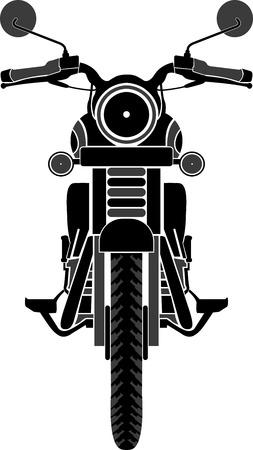 隔離された背景を持つバイクのフロント ビューのイラスト アート  イラスト・ベクター素材