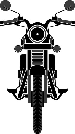 motorcycle racing: Illustration art of a bike front view with isolated background