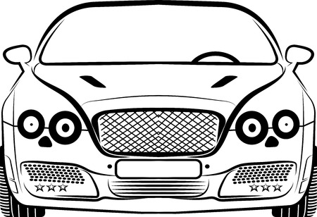 Illustration art of a car silhouette with isolated background Vector