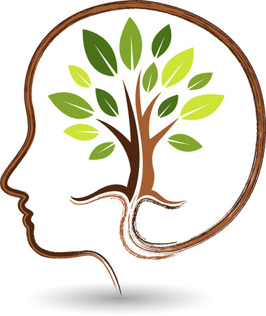 Illustration art of a mind tree with isolated background