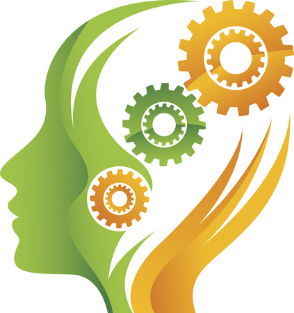 illustration art of mind gear with isolated background