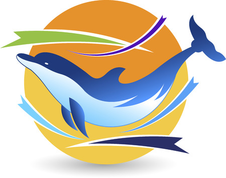 dolphin fish: Illustration art of a dolphin  Illustration