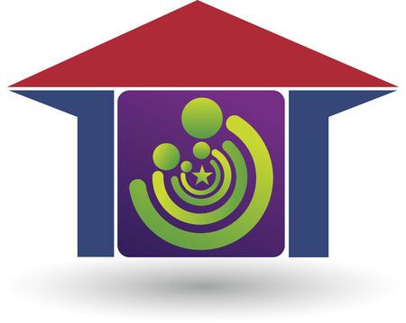 violate: Illustration art of a family house  Illustration