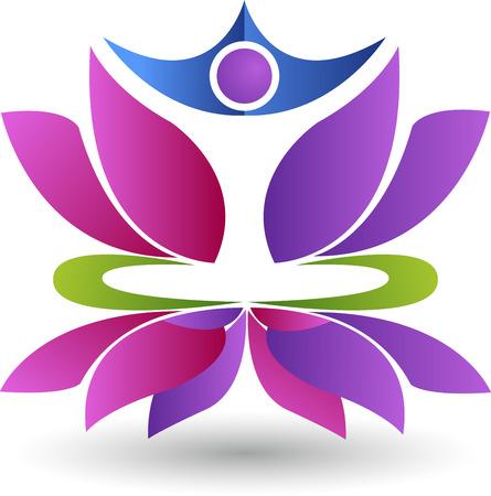 violate: Illustration art of a lotus yoga isolated