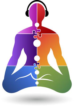 la union hace la fuerza: Arte de la ilustración de un icono de yoga con fondo aislado