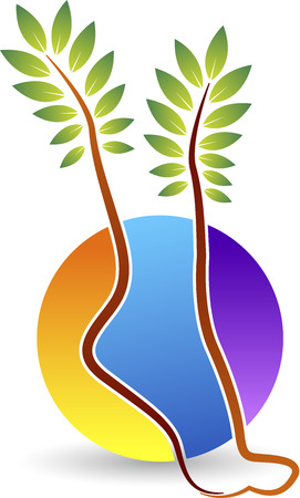 ayurveda: Illustration art of a Foot Print icon with isolated background