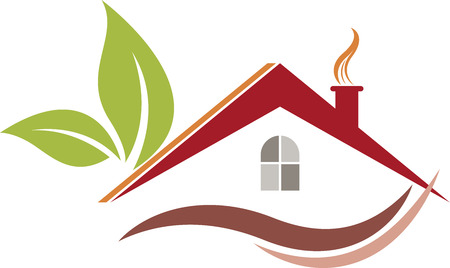 contruction: Illustration art of a Eco home icon with isolated background