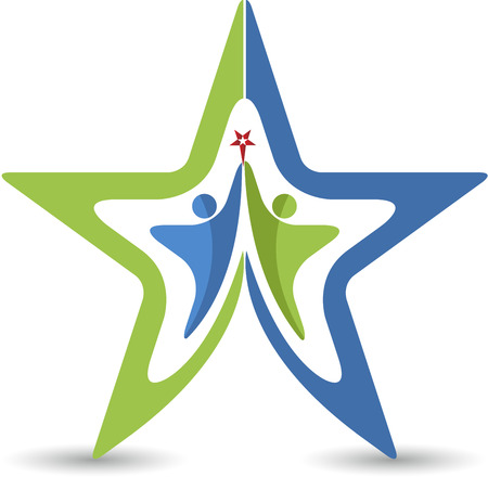 Illustration art of a couple star icon with isolated background Vector