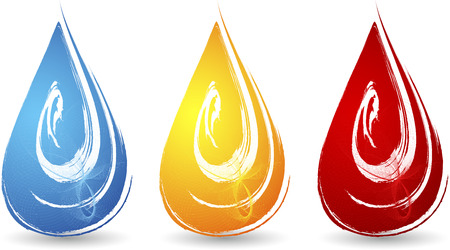 oil drops: Illustration art of a drops icon with isolated background Illustration