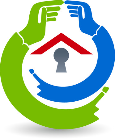 safty: Illustration art of a safty house icon with isolated background