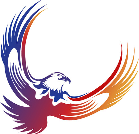 Illustration art of a eagle icon with isolated background