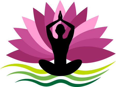 budda: Illustration art of a yoga icon with isolated background Illustration
