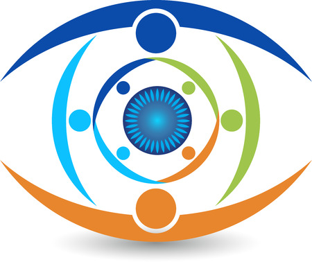 Illustration art of a group eye care icon with isolated background Vector Illustration