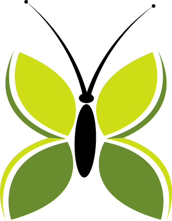 Illustration art of a butterfly icon with isolated background Vector