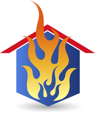 fire house: Illustration art of a fire house with isolated background Illustration