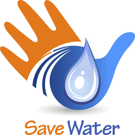 preservation: Illustration art of a save water icon with isolated background