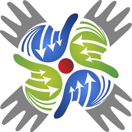 graficas: Arte de la ilustración de un icono de la mano con el fondo aislado Vectores