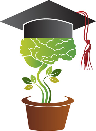 alumni: Illustration art of a education growth icon with isolated background