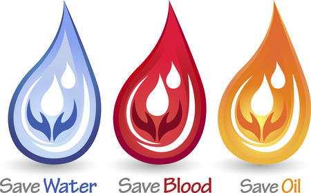 safe drinking water: Illustration art of a save drops icon with isolated background