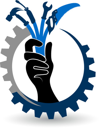 renovating: Illustration art of a hand tools icon with isolated background Illustration