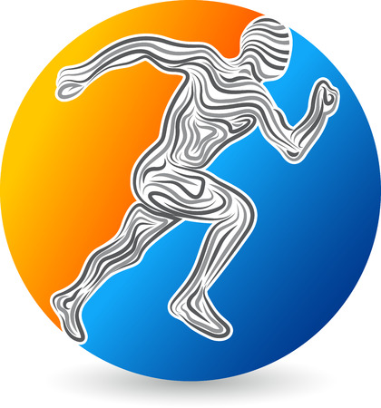 fitness: Illustration art of a active runner design with isolated background