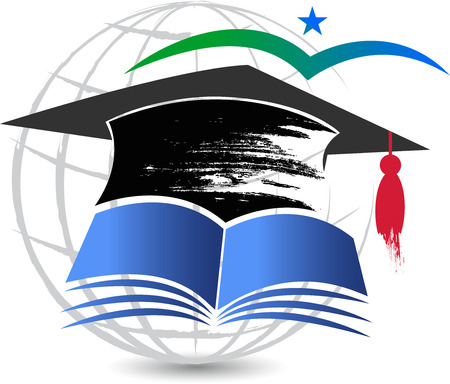 valedictorian: Illustration art of a aim education icon with isolated background