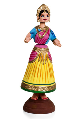 tanjore dance dolls with white background
