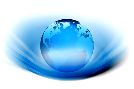 transparence: 3d design of a globe glossy with rays background Stock Photo