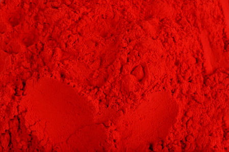 indian culture: closeup shot on red color Powder