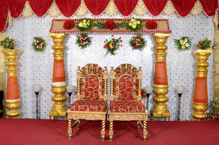 結婚式: 結婚式のステージで撮影カメラ 写真素材