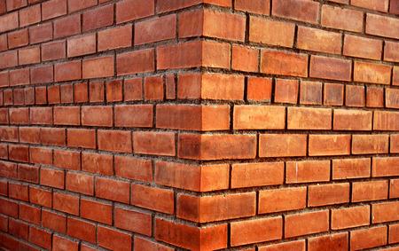 outside house: camera shot on corner bricks wall