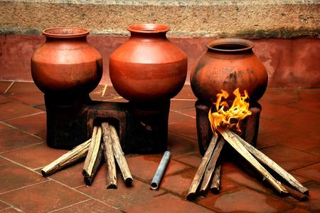 oldest: camera shot on indian handmade clay oldest pots