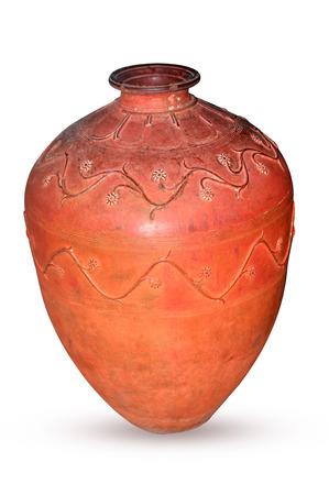 oldest: camera shot on indian handmade clay oldest single big pot Stock Photo