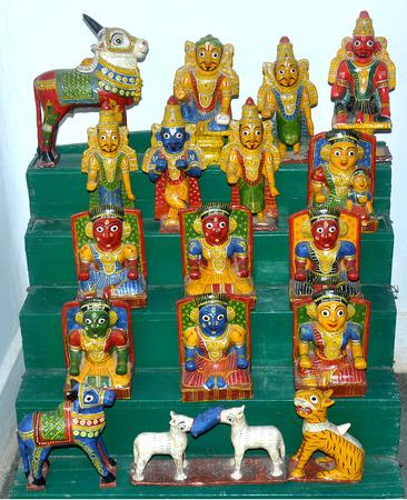 golu: camera shot on handicrafts antique shop Stock Photo