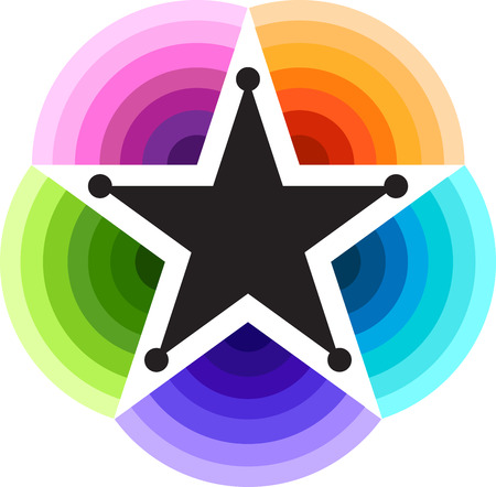 violate: Illustration art of a five star icon with isolated background