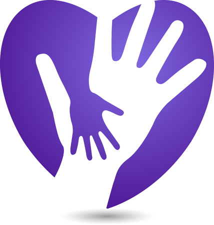 helping: Arte de la ilustración de un icono de cuidado del corazón con el fondo aislado