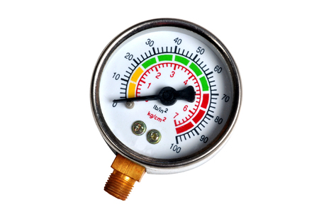 pressure gauge: Compressor pressure meters isolated background