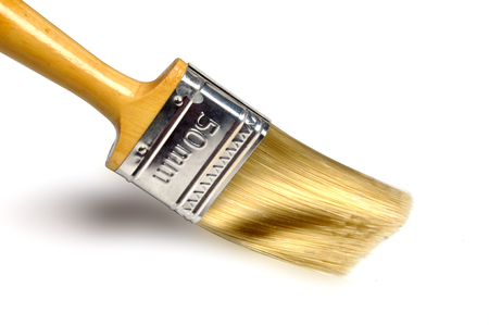 50mm: 50mm Paint brush with isolated background