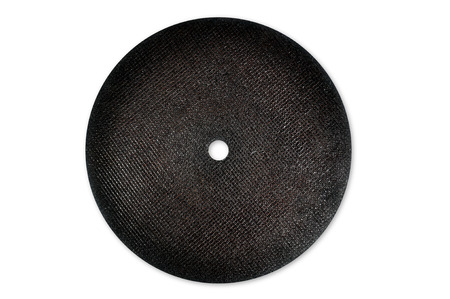 abrasive: abrasive cutting black discs with white background
