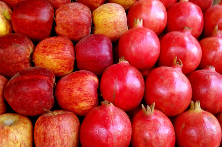 preferment: fruit shop apple and pomegranate mixed