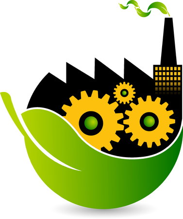 artistry: Illustration art of a Eco Factory icon with isolated background
