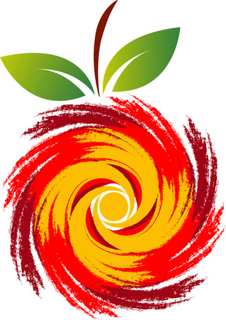 difference: Illustration art of a swirl fruit icon with isolated background