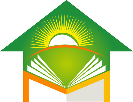 human development: Illustration art of a home education icon with isolated background Illustration