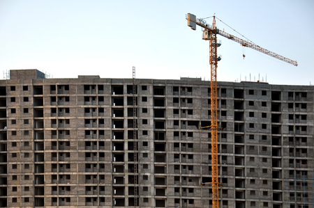 architectural exteriors: camera shot on apartments building construction