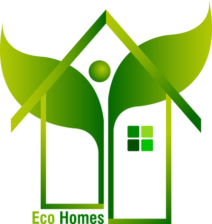 tree house: Illustration art of a home leaf icon design with isolated background