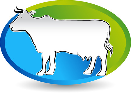 female animal: Illustration art of a cattle icon design with isolated background Illustration