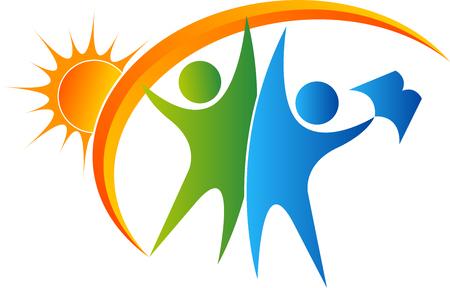 education: art Illustration d'une icône de l'éducation lumineuse avec fond isolé Illustration