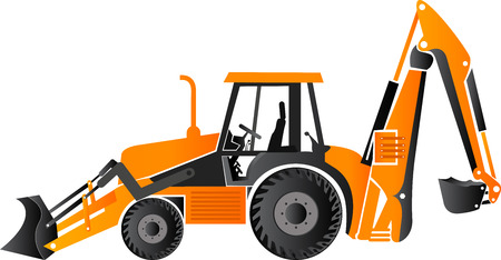 mover: Illustration art of a earth mover vehicle with isolated background