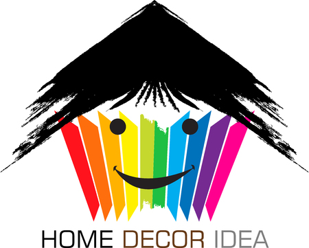 painting and decorating: Illustration art of a home decor idea icon with isolated background